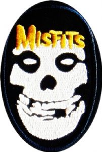 Misfits (oval) iron-on / sew-on cloth patch    (tg)